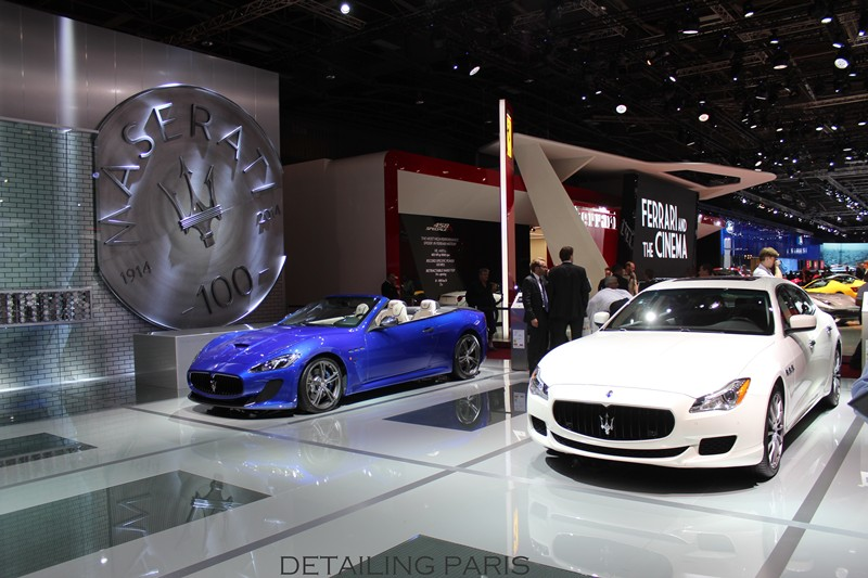 mondial de l 39 automobile 2014 stand maserati detailing paris. Black Bedroom Furniture Sets. Home Design Ideas